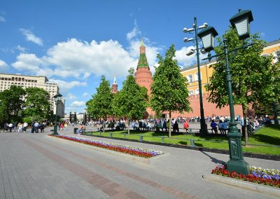 Moskau – Alexandergarten Zentrale Allee am Kreml