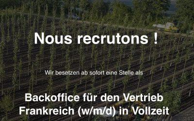 Verstärkung für unser Frankreich-Team gesucht!